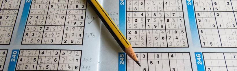 smartes gehirnjogging mit sudoku